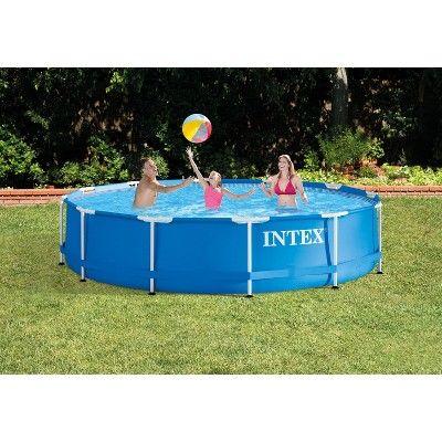 Intex 12 X 30 Metal Frame Set Above Ground Swimming Pool With Filter 3 Pack Above Ground Swimming Pools Intex Swimming Pools
