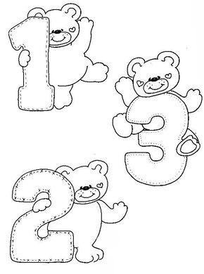 Desenhos Numeros Ursinho Decoracao Sala De Aula Em Eva 1 With