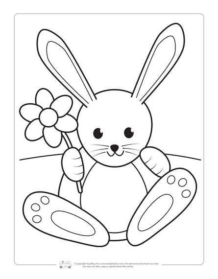 Printable Easter Coloring Pages For Kids Bunny Coloring Pages