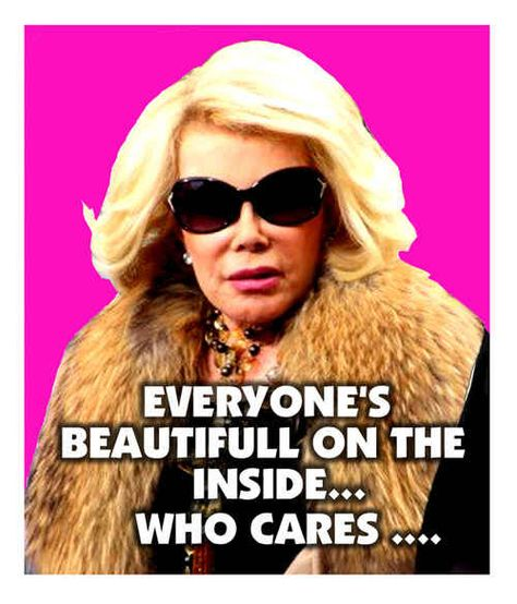 "She tells the truth about ""inner beauty."" 