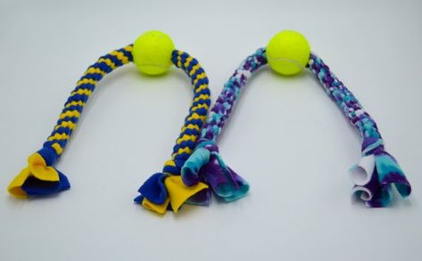Large Dog Toy With A Tennis Ball In The Center By Boss Dog Toys