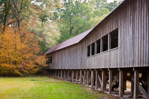 Twin Creek Covered Bridge, Midway, AL;  notice how the bridge curves; photo by The Suss-Man (Mike), via Flickr