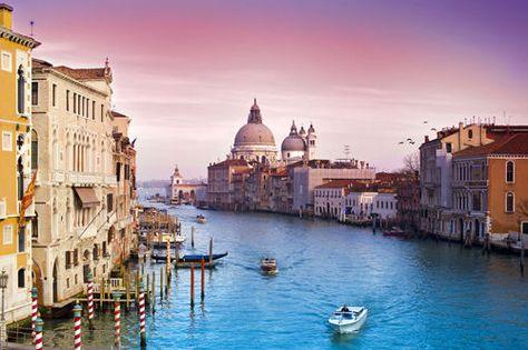 NATURE POSTER VENI VIDI VENICE gorgeous colors waterway buildings 24X36