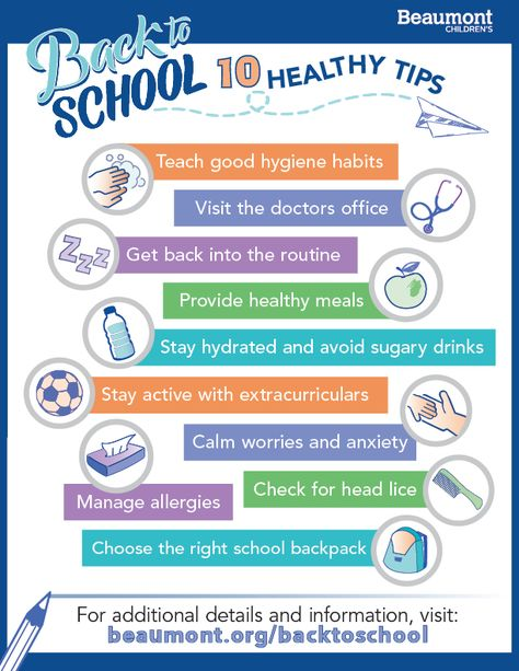 10 Back-to-School Health Tips for Parents