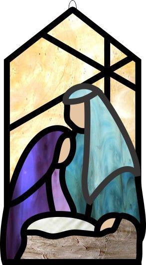 Stained Glass Bevel Nativity Scene
