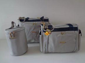 913e3688b93a3c kit bolsa maternidade tigor t tigre original cinza/marinho | Meu ...