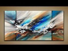 Uberlagerte Acrylmalerei Teil 1 Youtube Acrylmalerei