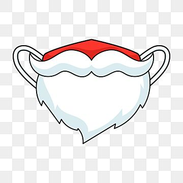 Cute Christmas Mask In The Shape Of A Santa Claus Beard 2020 Disinfection Prevention Png And Vector With Transparent Background For Free Download Christmas Vectors New Year Illustration Santa Claus