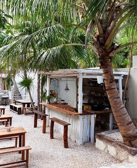 Hartwood Restaurant and Bar. Hot spot in Tulum, Bohemian chic beach town in Mexico: http://beachblissliving.com/beach-town-tulum-mexico/