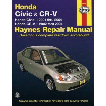 Honda Civic Cr V Automotive Repair Manual Walmart Com Honda Civic Repair Manuals Automotive Repair