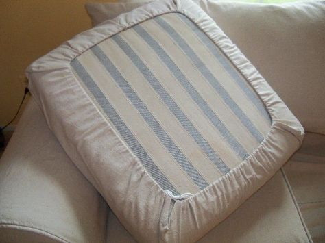 Easy Diy Drawstring Seat Cushion Cover Slipcovers Cushions On Sofa Couch Cushion Covers