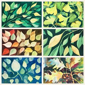 Negative Space Leaf Painting Adult Class Watercolor Negative