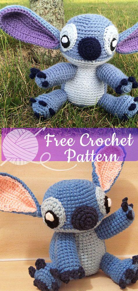 Stitch Amigurumi - free pattern from Ravelry | Patrones amigurumi ... | 997x474