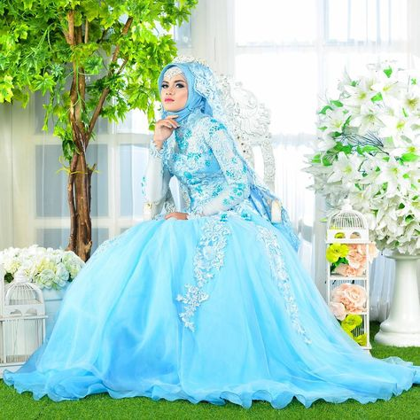 Attractive beautiful muslim wedding dress.Find more hijab and muslim ...