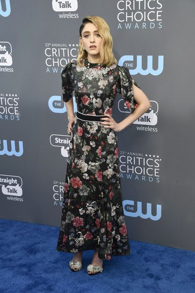 Actor Natalia Dyer attends the 23rd Annual Critics' Choice Awards.