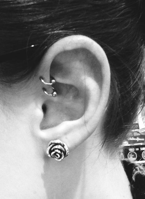 double forward helix with silver CBRs