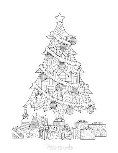 Christmas Tree Coloring Sheet For Adults Christmas Coloring Sheets Christmas Coloring Pages Christmas Tree Drawing
