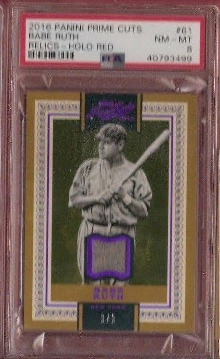 newest collection b2b49 ae85d BABE RUTH GAME USED JERSEY CARD #d3/3 1 OF 1 ? RUTHS JSY ...