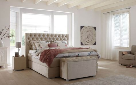 16 best Boxspringbetten images on Pinterest Beds, Bedroom and - boxspringbetten vor nachteile gut schlafen