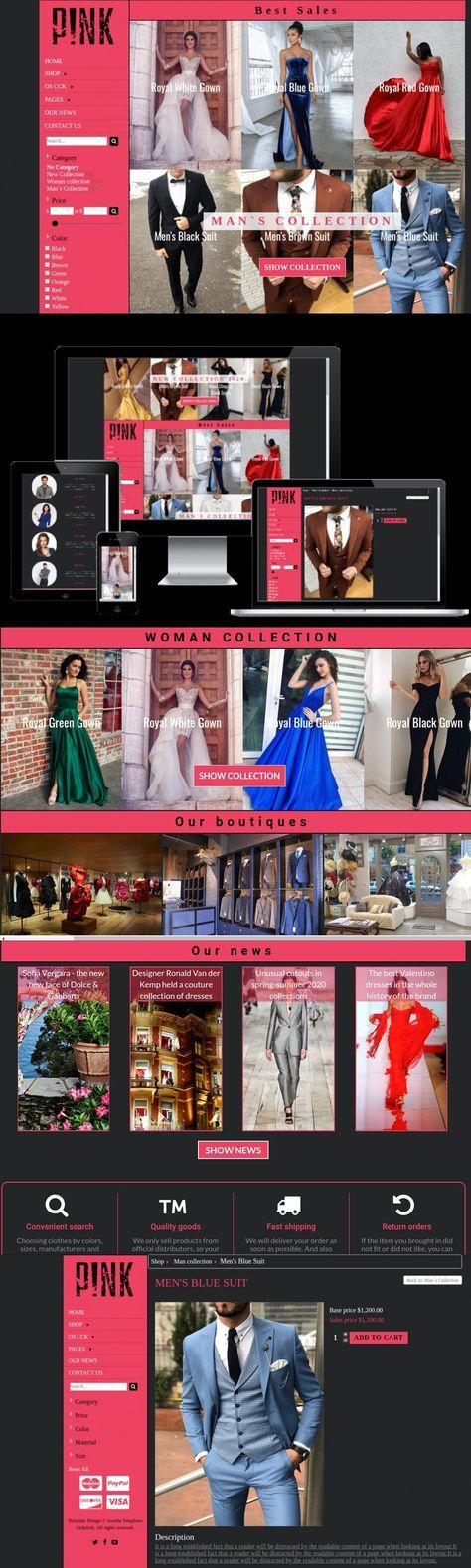 Pink - Joomla VirtueMart Template
