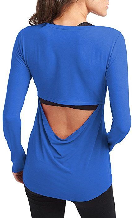 OYANUS Womens Summer Workout Tank Tops Open Back Shirts Strappy Yoga Tank Tops