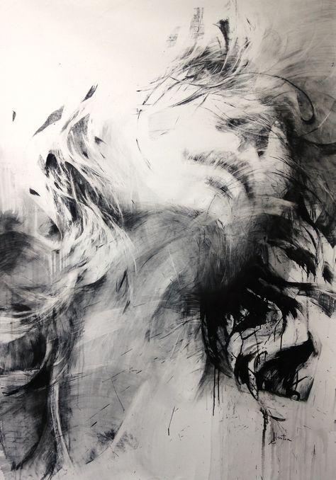 ewa hauton 200x140cm #face #drawing #canvas
