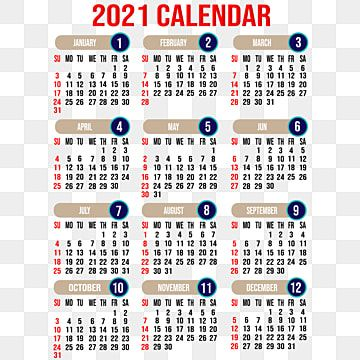 Editable 2021 Calendar With Background Design, 2021, Calendar