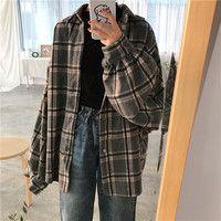 Harajuku Lantern Sleeve Plaid Shirt Woolen Jacket · Harajuku Feclothing · Online Store Powered by Storenvy