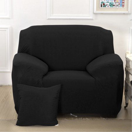 Outad Stretch Sofa Covers Elastic Slipcover Single Seater Protecting Couch Cover For Mother S Day Black Couch Covers