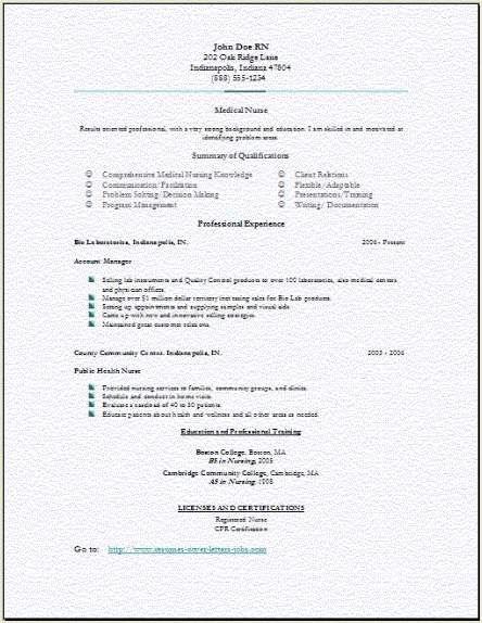 Multiple nursing resume samples I Love Nursing! Pinterest - med surg nursing resume