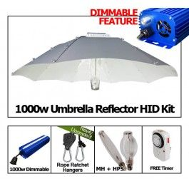 Yield Lab 1000w Hps Mh Umbrella Reflector Grow Light Kit With Images Grow Lights Hps Grow Lights Umbrella