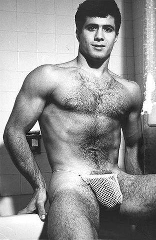 Vintage hairy nude men