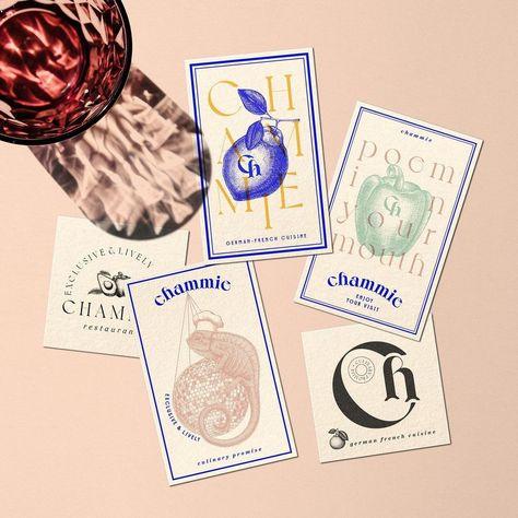 Chammie restaurant bar and club brand identity design by Byira.de