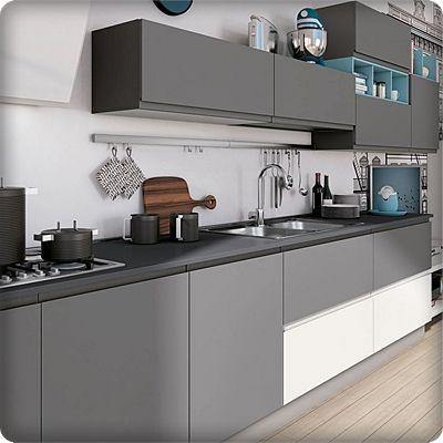 Cucina Moderna Senza Pensili Beige In 2020 Kitchen Room Design Modern Kitchen Modern Kitchen Cabinets