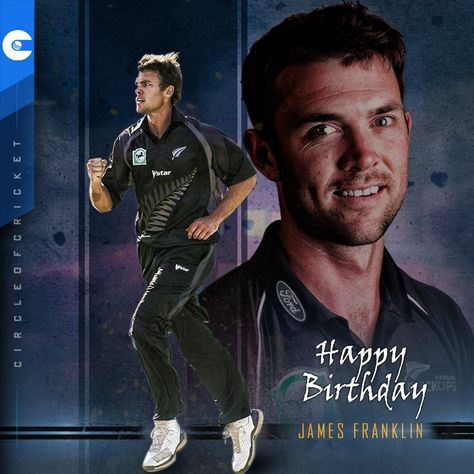 Happy Birthday to former New Zealand all-rounder, James Franklin.