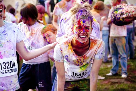 The Color Run! this would be crazy fun! but my favorite part is the guy in the top right hand corner...classic