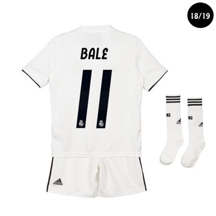 5d8604d3a6e61 Conjunto de niños 1ª equipación Real Madrid CF 2018-2019 Bale adidas ...