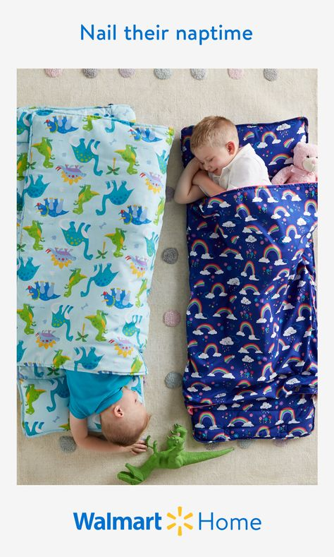 Give their brain and their body a boost with comfortably durable kids' nap mats and slumber bags. Walmart makes it easy for your children to experience quality rest just about anywhere with an all-in-one quilted mat, ultra-soft blanket, and pillow. Discover their favorite character designs for toddlers and more adorable napmat styles they'll enjoy—at prices you'll love. #WalmartHome