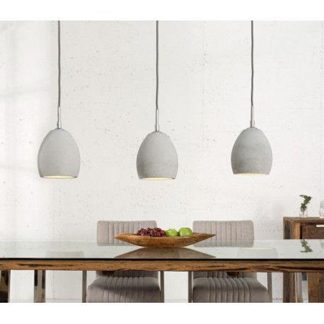 Hangeleuchte Etna Ii Grau 3er Betonlampe Hangelampe Pendelleuchte Esstisch Beleuchtung Betonlampe Lampe Esstisch