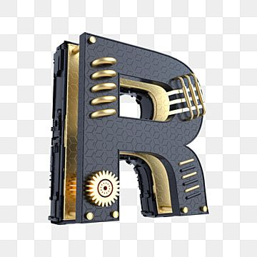 Black Gold Mechanical Stereo Letter R Letter English 26 Letters Png Transparent Image And Clipart For Free Download In 2021 Letter R Cool Backgrounds Black Backgrounds