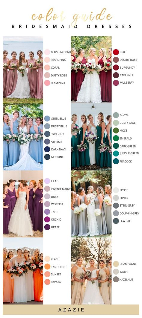 Winter Bridesmaid Dresses, Winter Bridesmaids, Azazie Bridesmaid Dresses, Bridesmaid Dresses Different Colors, Bridesmaid Dress Colors, Cute Wedding Ideas, Wedding Themes, Wedding Inspiration, Wedding Stuff