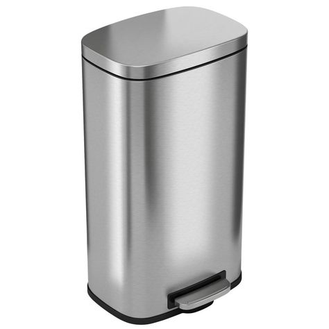 Itouchless Softstep 8 Gal Stainless Steel Step Trash Can With