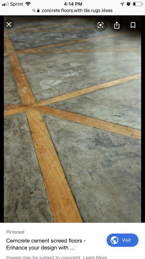Wood Inlay Cement Floor Wood Inlay Screed Floors Ranch House Designs