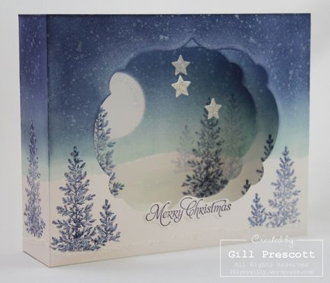 Merry Christmas  On this beautiful Christmas morning, I'm sharing a very special diorama card I made for my daughter and son-in-law…