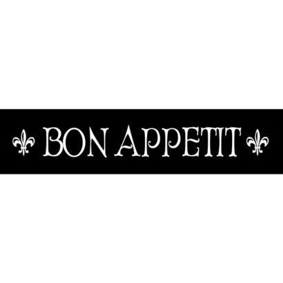 For The Kitchen: Black/Linen Bon Appetit Sign
