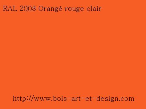 Ral 2008 Orange Rouge Clair Jpg 564 423 Color Art Clair