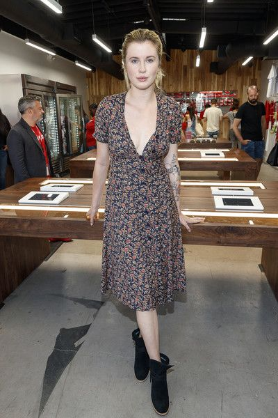 Model and actress Ireland Baldwin attends the MedMen Abbot Kinney store ribbon cutting ceremony.