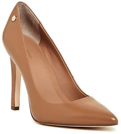 88e0dd95a89 Calvin Klein Brady Leather Pointed Toe Pump - Wide Width Available ...