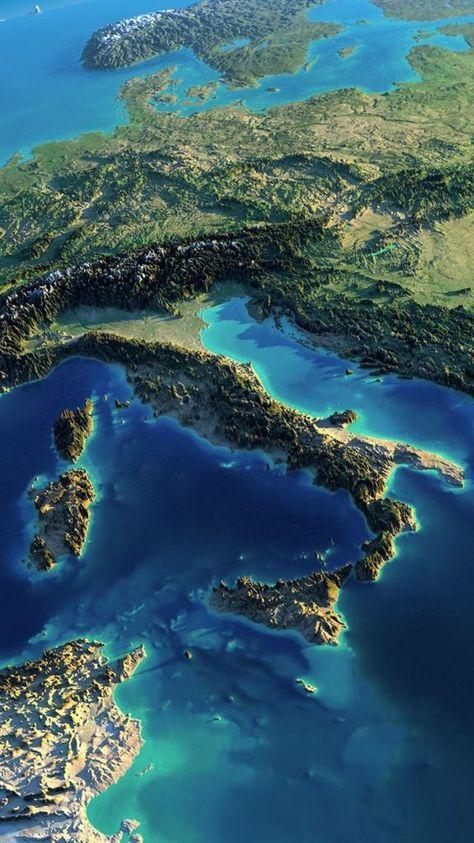 Welt Reisen Europa Tolle Ansicht Italien Landschaft Reisen