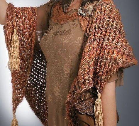 El Knifty Knitter: Knifty mantón Tassel Knitter